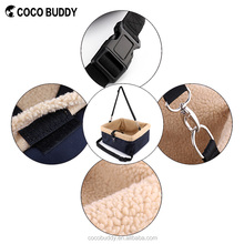 Super Safety Pet Booster Bag Removable Car Soft Fleece Padded Dog Safety Booster Seat Carrier