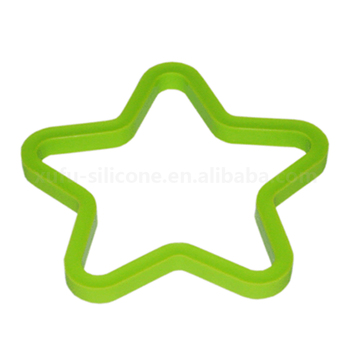 simple Kitchenware cooking tool egg cutter, five-pointed star silicone mold for egg cooking
