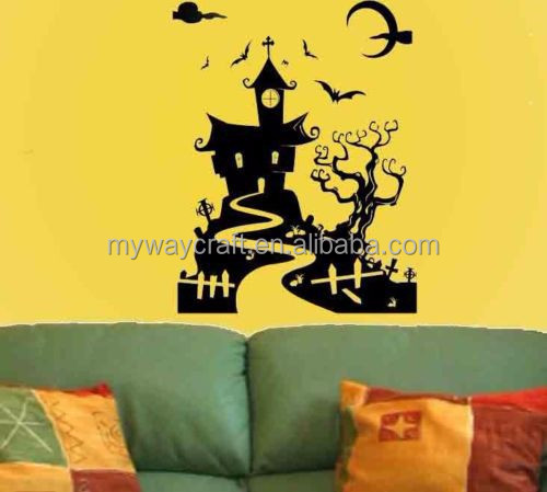 Spooky House Kid Room Halloween decoration Vinyl Wall Art Decal Sticker