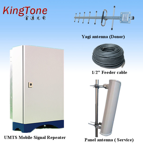Long Range Tri Band GSM Network Booster 900/1800/2100 Mobile Repeater for All Voice & Data