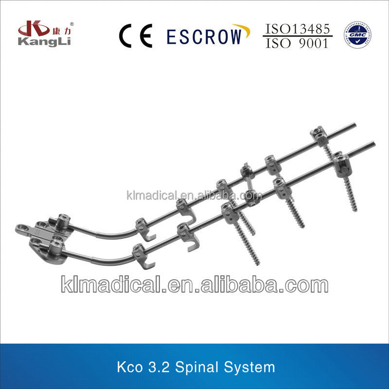 CE ISO proved titanium KCO3.2 medical device, surgical instrument for spinal implants