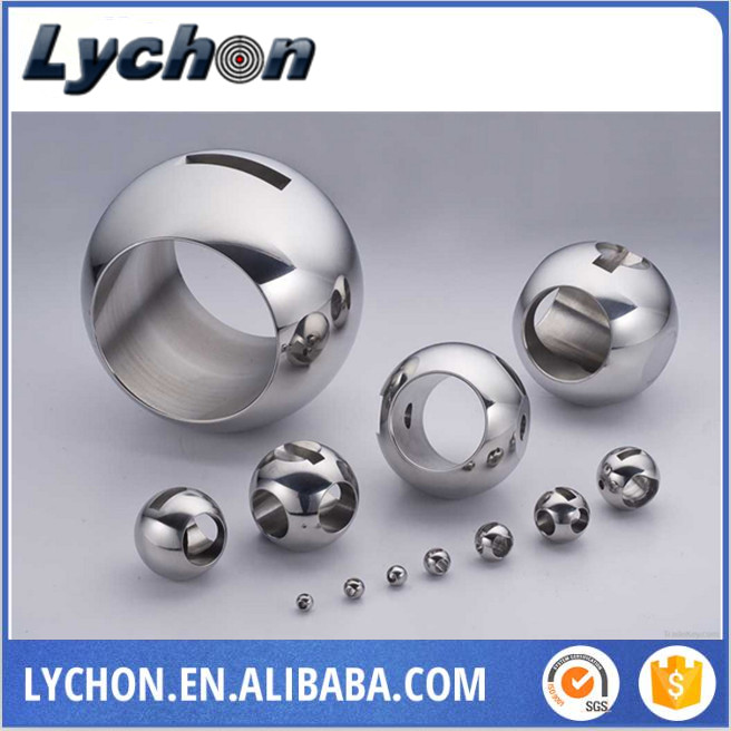metal stainless steel ball with four thread holes