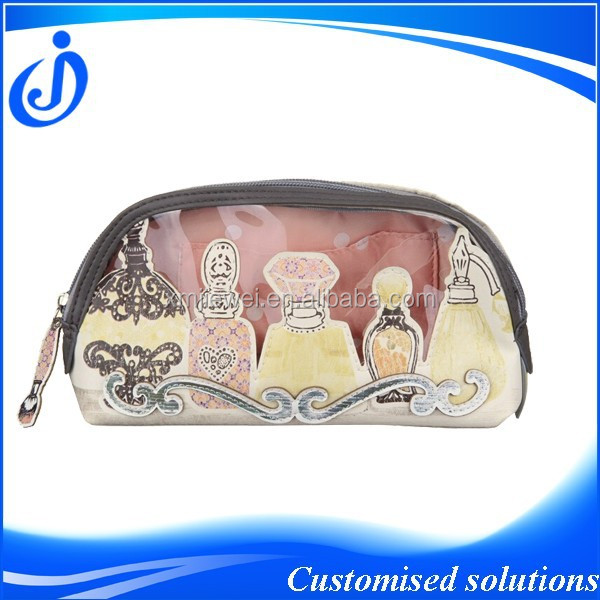 Faux Leather Beautiful Cosmetic Bag For Ladies