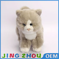 20cm Lifelike plush toy pussy cat animal toy made of fluffy fabric