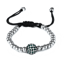 Handmade Woven Crystal Disco Ball Stainless Steel Jewelry Beads