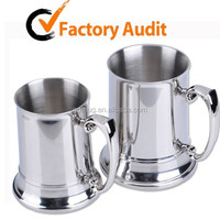 16oz stainless steel wholesale pewter tankard