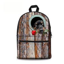 Cute Dog Printing Backpacks for College Boys and teenage School bag