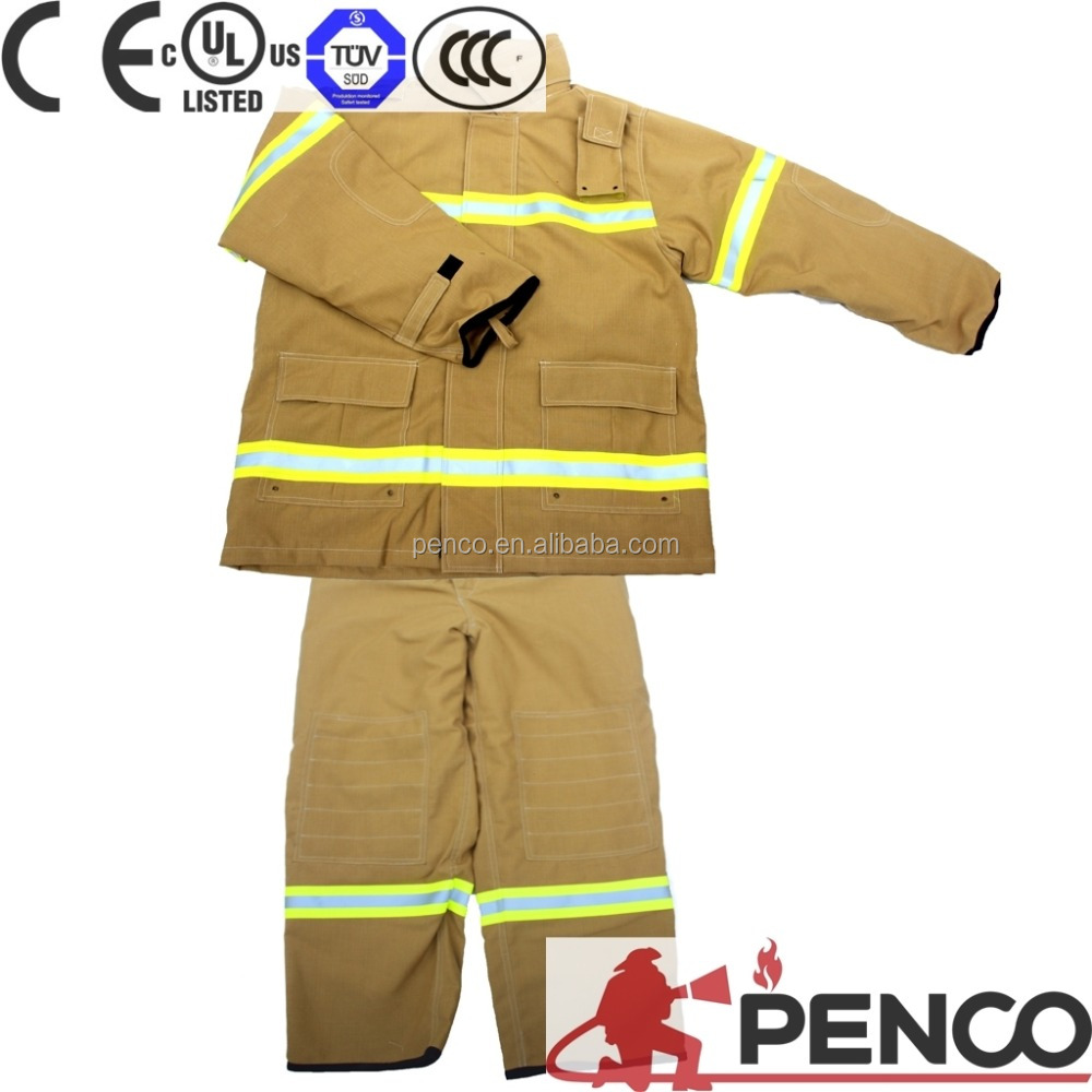 High quality high reflective tape fireman firefighting suit