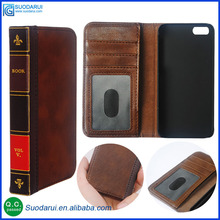 Retro 12 Bible Vintage Book Business Folio Leather Phone Case cover For Apple iPhone 7 Flip Wallet Pouch
