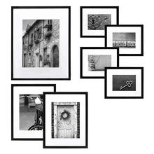 5 colors Black White Solid Wood A1 A2 A3 A4 8X10 11X14 inch Picture Photo Frame with Mat