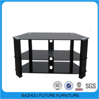 hot sale glass metal modern tv showcase furniture