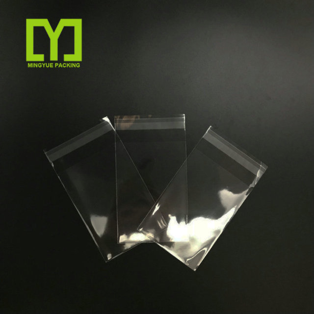 China Crystal clear plastic opp self adhesive bag with resealable glue tape