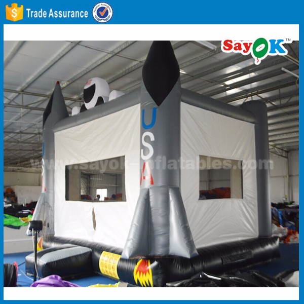 inflatable Rocket bouncer design used commercial inflatable USA bouncers