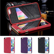 Wholesale High Quality Luxury Mirror Flip Cover Clear Wallet Mobile Phone case For Iphone 6 6plus