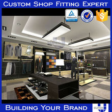 men clothes stores decoration, clothes rack, Wooden Clothes Display Showcase