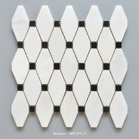 Polished white marble hexagon floor tile new arrival