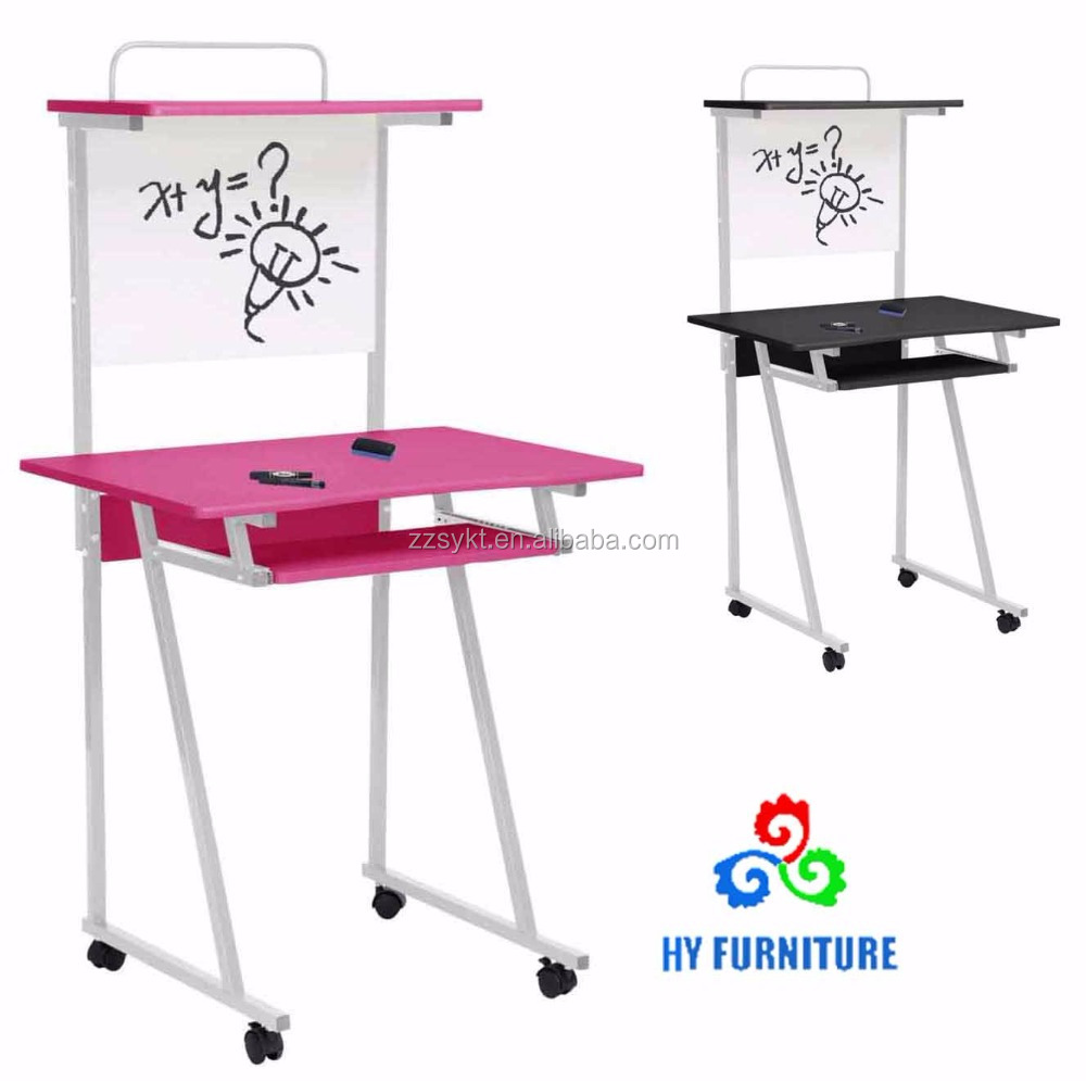 New design metal frame study cum computer table student study desks wholesale