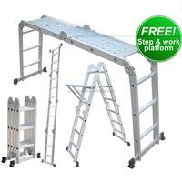 Aluminium Multi-Purpose Combination Ladder 3.7 Meters 4x3 Rung