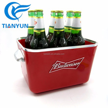Sedex factory wholesale square beer ice bucket for 6 bottles of wine