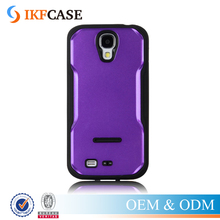Luxury Spray Oil Glossy PC+TPU Hard Kickstand Case For Samsung Galaxy S4 I9500 Phone Accessories Case