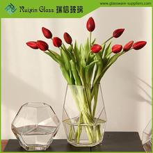 Hot sale high quality wedding decoration vases,white glass bottle