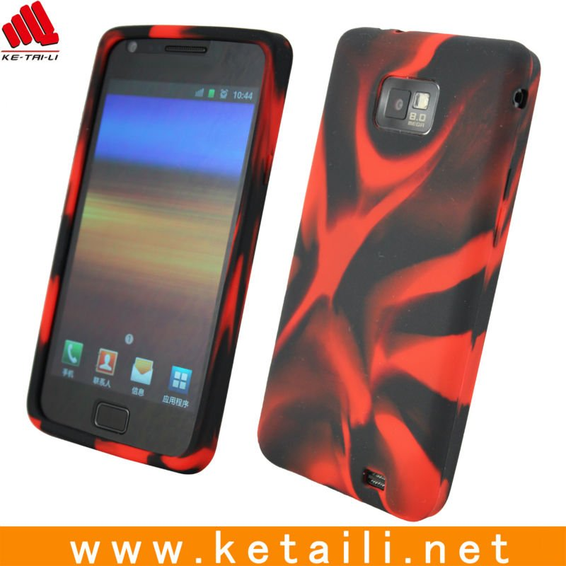 silicone phone cover for Samsung galaxy s2 case