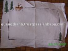 Christmas hand embroidery baby pillow case
