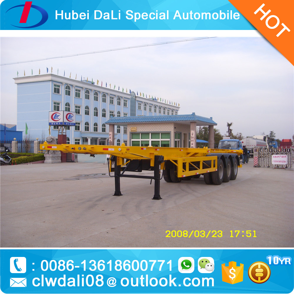 20 30 40 feet 3 axles 12 wheels semi trailer for container for sale from China