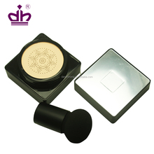 Square Korea air cushion empty compact powder container with Mushroom puff