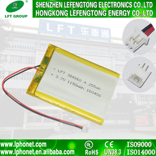 384860 high power 3.7v li-ion 1150mah tablet pc replace battery pack