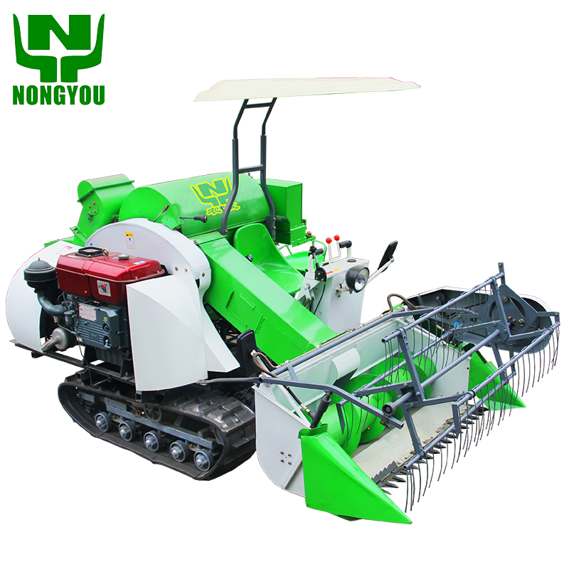 paddy mini rice combine harvester wheat cutter