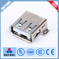 Haitong b type female solder usb connector with SMD