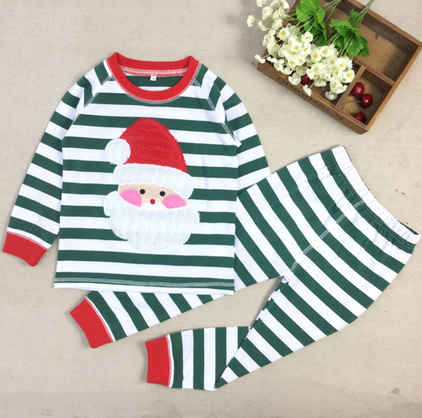 Wholesale Baby Clothes Girls Fall Boutique Outfits Christmas Stripe Pants Outfits