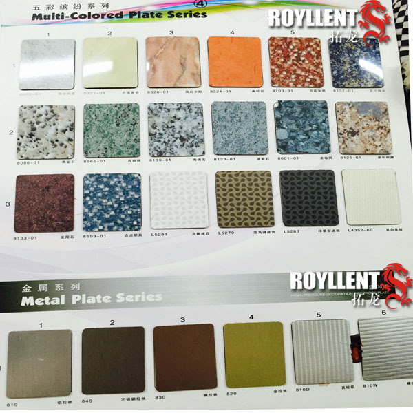 Professional exterior hpl with low price flower design high pressure laminate