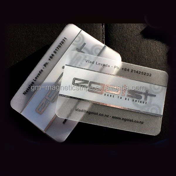 Embossing Machine Printing Plastic PVC Transparent Business Card
