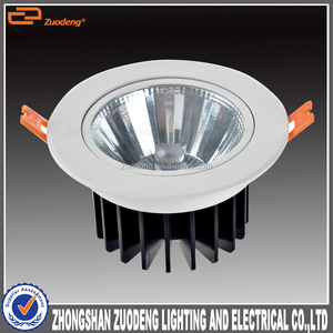 high lumen aluminum recessed dimmable round cob saa led downlight 13w