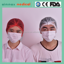 Dressings and Care For Materials Type and Medical Material custom PP SMS Medical Various Colors Non-woven Disposable Mob Cap