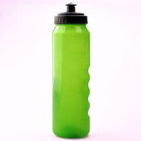 straight green wide mouth plastic water bottle with 1000ml capacity