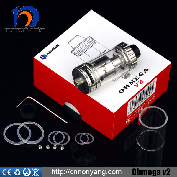 2016 new design vaporizer tank ohmega v2 rta with Dual posts design