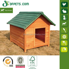 Asphalt roof natural color wholesale outdoor wooden dog kennel