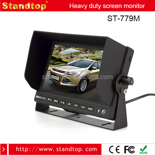 7 inch in dash car tv bus dvd player headrest monitor with hdmi input