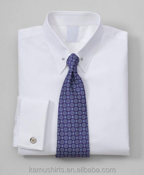 Mens pin collar white dress shirts french cuff mens shirts Buy white dress shirt