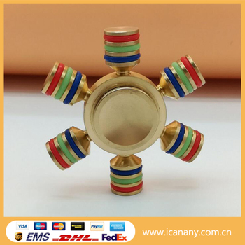 Hot Top level fidget spinner with competitive offer hand spinner toys Copper Brass Aluminum Ceramic hybrid