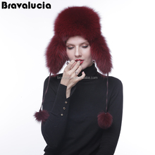 New Style Winter Thick Warm Headgear Faux Fox Fur Women Hats Hot Fashion Female Elegant Caps