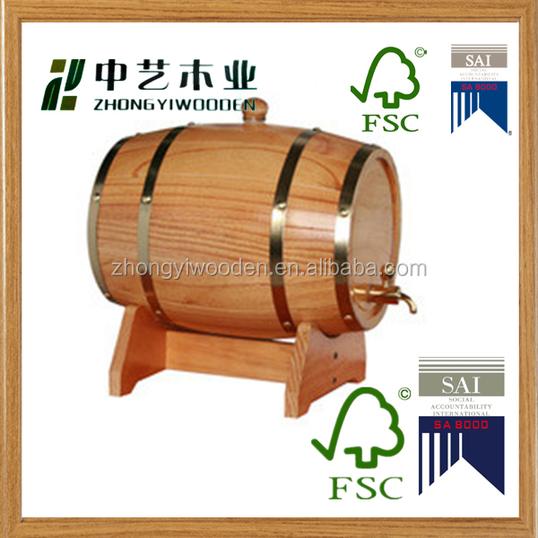 china factory FSC&SA8000&BSCI wooden beer wine whiskey rack barrel bucket pails