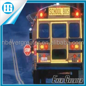 Custom reflective school bus sign