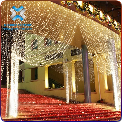 Outdoor color changing light LED christmas waterfall curtain light,curtain led