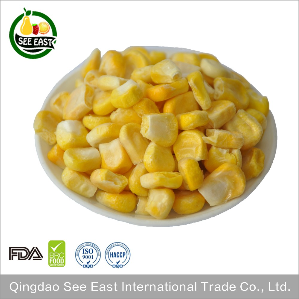 100% Natural FD vegetable freeze dried sweet corn dried yellow corn for fast food