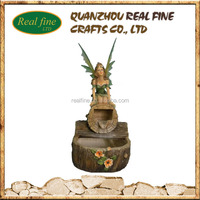 Garden decoration resin crafts water fountain outdoor