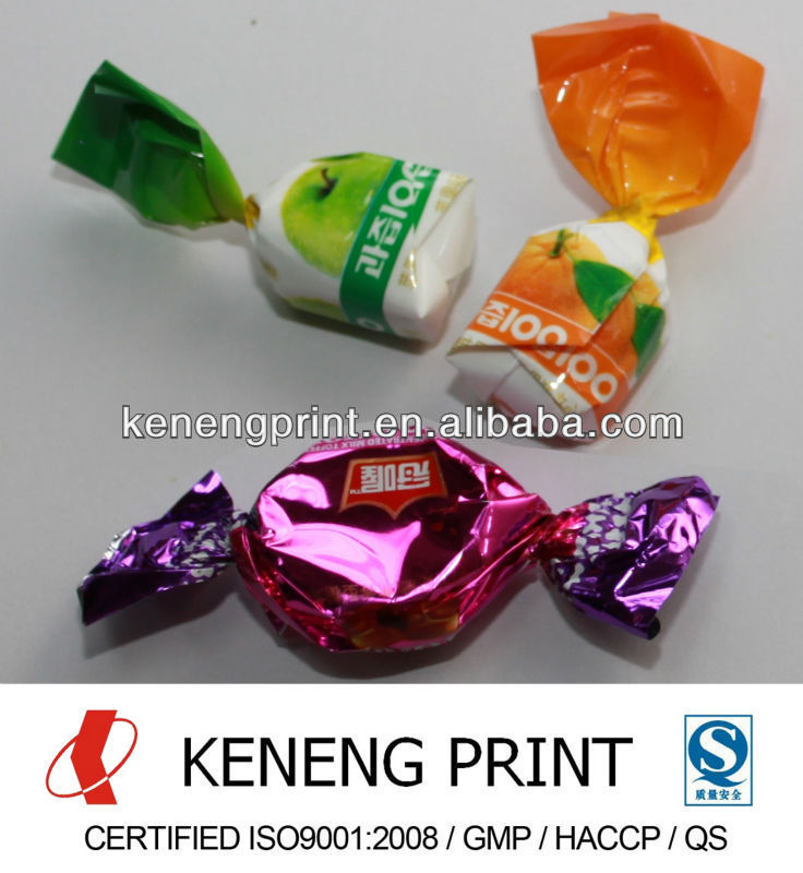 Metalized PET Twist Film for Candy/Chocolate Wrapper